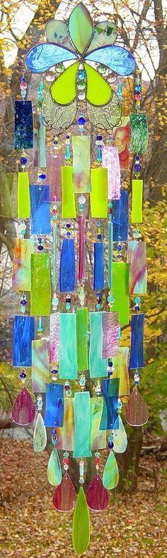 windchimes | Windchimes & Suncatchers / Kirk's Glass Art fused and stained glass ...