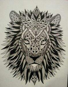 Discover thousands of images about Lion zentangle Dotwork Tattoo Mandala, Mandala Tattoo Design, Tattoo Designs, Kaktus Tattoo, Desenho Tattoo, Doodles Zentangles, Chest Tattoo, Future Tattoos, Pyrography