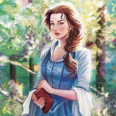Disney Inspire Fairytale Fanart: Belle from Beauty & the Beast Disney Pixar, Disney Fan Art, Film Disney, Disney And Dreamworks, Disney Animation, Disney Characters, Disney Belle, Disney Dream, Disney Love