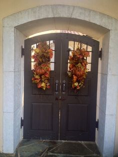 Elegant. Pair of fall swags by HappyHomeDesign