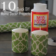 10 GREAT quick home decor DIY's #FancyLittleThings.com