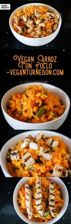 Vegan Arroz Con Pollo recipe clean and yummy
