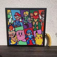 Super Smash Bros. perler bead art (50x50cm) by sweetbeads