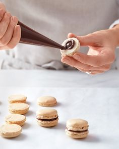 Pastry crazes may come and go, but the macaron's appeal is timeless. This Parisian import seduces through playful elegance; and based on its reception, nothing is lost in translation. Once only found at high-end patisseries, we've perfected the art of making these stylish sandwich cookies at home (for less than a quarter a pop, no less). Read our test kitchen Q&A, visit our step-by-step guide, and say bonjour to your new favorite treat.