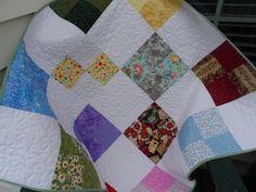 Baby Quilt - Patchwork Quilt - Crib Quilt  - Lap Quilt - Colorful Quilt -  Boy Quilt - Girl Quilt - Homemade Quilt - Patchwork Quilt by Nanasewingroom on Etsy