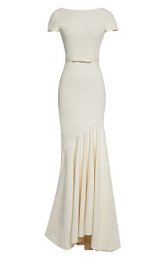 Scoop-Back Tailor Bow Gown by Katie Ermilio for Preorder on Moda Operandi