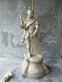 Lamp / Figural / Gladiator / Pot Metal by assemblage333 on Etsy, $150.00