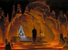 My 666th follower. Welcome to hell Johnny B. Goode, now I am your master.  Ralph McQuarrie's concept art for the Emperor's Throne Room.