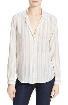 EQUIPMENT 'Adalyn' Silk Stripe Blouse. #equipment #cloth #