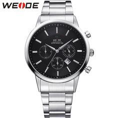 WEIDE Luxury Brand Military Watches Men Quartz Sports Watch Hardlex Analog Complete Calendar Date Day Quartz 30 Meter Waterproof #Affiliate