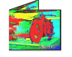 Dynomighty Artist Collective: Michael Michael Motorcycle by Michael Ledwitz Motorcycle Artwork on a wallet....AWESOME!