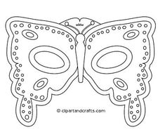 mardi gras mask template -- printable