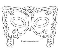 mardi gras mask template -- printable