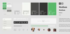 Medium.com Ui Style Guide by Teehan+Lax | inspirational examples of UI style guides