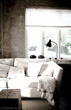 Sofa tela lino. En Marcelino Pernas Interiorismo
