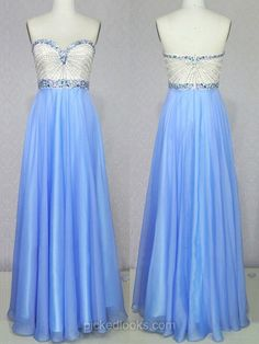 Chiffon Sweetheart Floor-length A-line with Crystal Detailing Ball Dresses