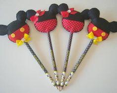 Lápis Mickey - convite ou lembrancinha