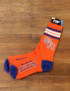 Every Bearkat needs blue and orange tall socks to show their pride in Sam Houston!