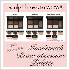 Want brows that wow? Then Younique's new brow obsession palette is perfect for you! Click to order. #perfectbrows #browobsession #younique