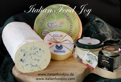 #refined #cheese from #Italy #blue and #green  #cheese #aged cheese and #truffle #butter for #gourmets from #Italian #Food #Joy www.italiandoodjoy.de fur AT und D www.italianfoodjoy.com for EU countries Ravioli, Aged Cheese, Truffle Butter, Eu Countries, Italian Cheese, Truffles, Latte, Joy, Italy