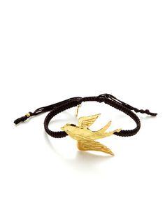 Gold Hummingbird Bracelet by Tai Jewelry on Gilt.com