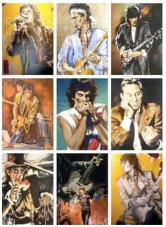 The Rolling Stones in Painting by Ronnie Wood