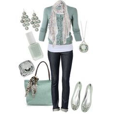 mint green, created by ashleyhenderson on Polyvore