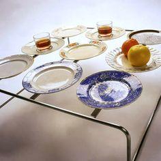 "Imu Design: ""Plate-U"" by Veli-Matti Tolppi: coffee table made of mixed plates"