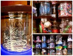 Talenti Gelato ~ Great Flavor & Great Organization The Gaston House Gelato Containers. Reuse Containers, Recycled Jars, Spooky Halloween Decorations, Diy Storage, Storage Ideas, Cool Diy, Gelato, Repurposed, Mason Jars