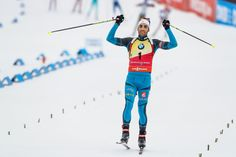 Martin Fourcade of France takes 1st place during the IBU Biathlon World Cup Men's and Women's Mass Start on December 18, 2016 in Nove Mesto na Morave, Czech Republic.