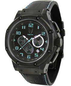 Meister - Ambassador Stainless Steel Watch (Black/Tiffany Blue) $300