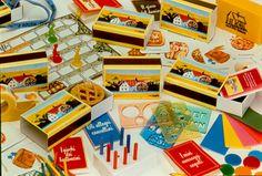 Serie di sorpresine in pack inserite nelle merende Mulino Bianco negli anni 1983-1990