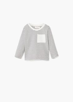 Striped cotton t-shirt -  Kids | MANGO Kids Finland