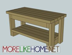 More Like Home: Day 9 - Build a Bench with - this site has AMAZING d.y building plans! Diy Furniture Chair, Furniture Logo, Steel Furniture, Diy Chair, Repurposed Furniture, Cheap Furniture, Discount Furniture, Furniture Plans, Furniture Stores