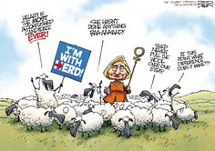 """Editorial cartoon by Nate Beeler found on theweek.com on Thursday, July 28, 2016 / """"we the sheeple"""""""