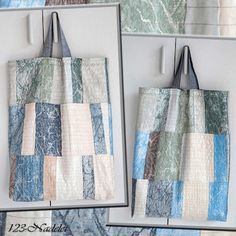 Recycling, Shopping Bags, Upcycle, Tote Bag, Scrappy Quilts, Old Clothes, Sheer Curtains, Shopping, Handarbeit