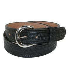 CTM® Men's Big & Tall Leather Western Belt with Removable Buckle