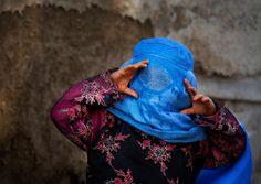 Mädchen mit Burka, Afghanistan
