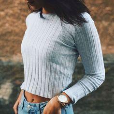 "373 Me gusta, 23 comentarios - MARILYN (@marybeniga) en Instagram: ""Ugh I miss summer  #throwback #ootdwomen #ootdfashion #croppedtee #blogger_de #bershka…"""