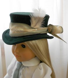 - Doll Hat - 19th Century Classic Riding Hat via Etsy.  By Linda Peterson of CapeCodCuriosities.