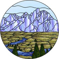 The Grand Tetons. Free pattern in Glass Eye format at website.
