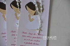 Marcador de livro com mini-terço – Menina rezando  :: flavoli.net - Papelaria Personalizada :: Contato: (21) 98-836-0113  vendas@flavoli.net