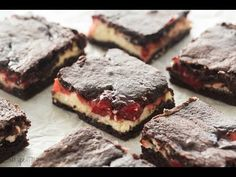 Cherry Cheesecake Brownies + RECIPE VIDEO