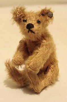 Miniature Steiff early 1900's Ted. Okay, not a doll, but it's Steiff...and a teddy bear! <3