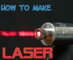 Powerful Burning Laser: Hello today im going to show you how to make a powerful burning laser from DVD-RW, before we begin I must caution that its very powerful thing and can seriously damage your eyes, be careful. Electronics Projects, Electrical Projects, Electrical Engineering, Computer Projects, Electronics Components, Chemical Engineering, Electronics Gadgets, Gadgets Électroniques, Diy Tech