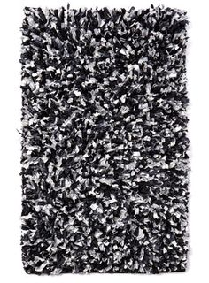 Charmant Triple Feather Bath Mat Monochrome