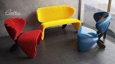 parametric chair on Behance Parametric Design, Behance, Cnc Router, Furniture, Armchairs, Home Decor, Sculpture, Projects, Parametric Architecture