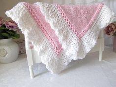 Knit Baby Blanket - Royal CCP - via @Craftsy
