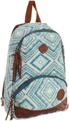 Roxy Juniors Great Outdoors Mini Backpack, Turquoise, One Size Roxy Backpacks, School Backpacks, Boho Bags, Beach Accessories, Mini Backpack, Famous Brands, School Bags, Purse Wallet, Fashion Backpack