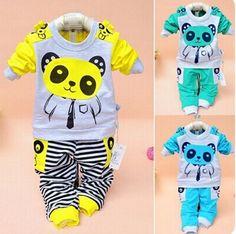 2014 Spring Autumn baby set cartoon Panda velvet set twinset long sleeve set hoodie and pant children clothing kids unisex sets $10.59 - 10.99